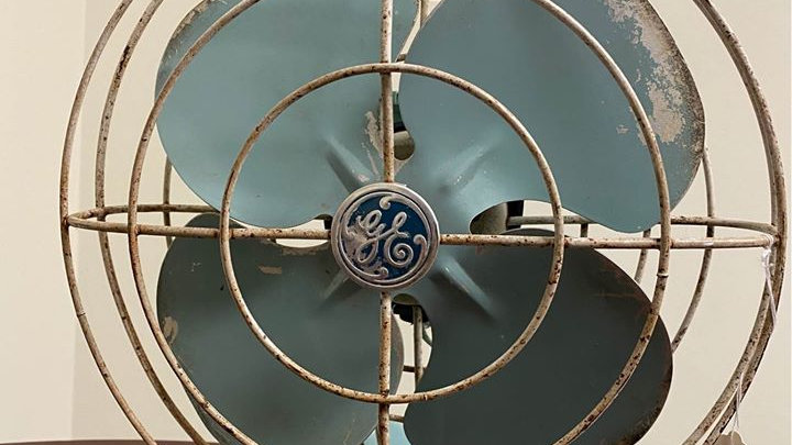 Vintage Retro Tabletop Fan, General Electric, Works!