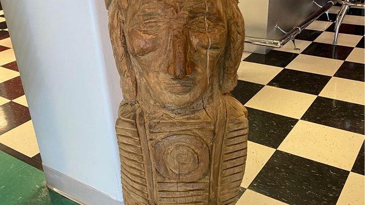 "Chainsaw Art, Native American Chief 41"" y'all"
