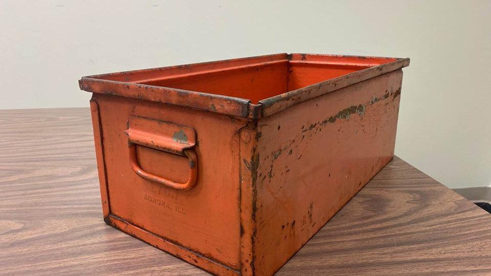 Industrial Vintage Metal Tray Bin Drawer Lyon Manufacturing Aurora Illinois