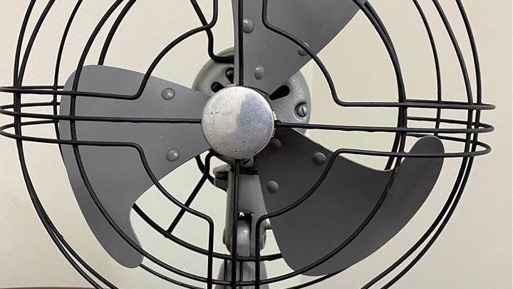 "1940s General Electric ""Vortalex"" Fan in excellent condition. Vintage!"