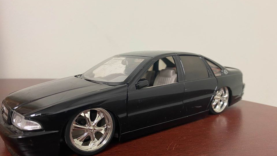 "1996 Impala SS ""Dub City"" 1/24 Jada Toys Custom Lowered on 24"" wheels"