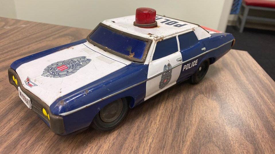 1969 Impala Tin toy Vintage Police Car