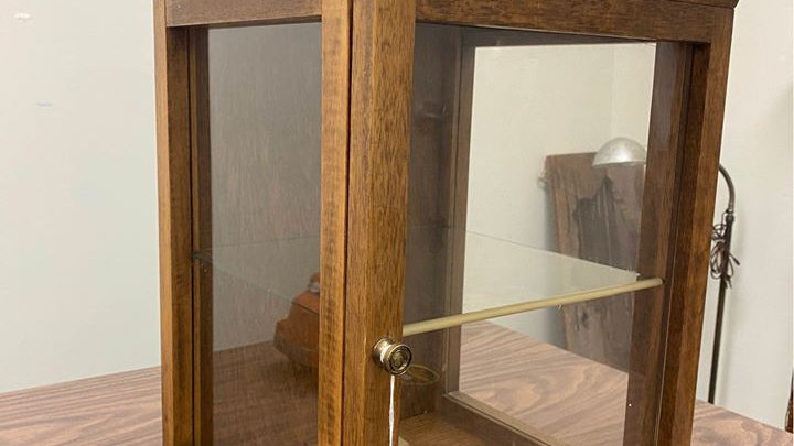 Antique Wooden Display Cabinet