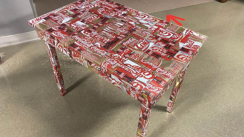 Coca Cola Can Homemade Table