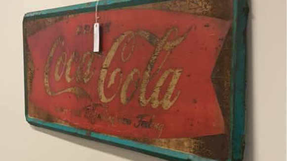 Large Coca Cola Vintage Advertising Sign