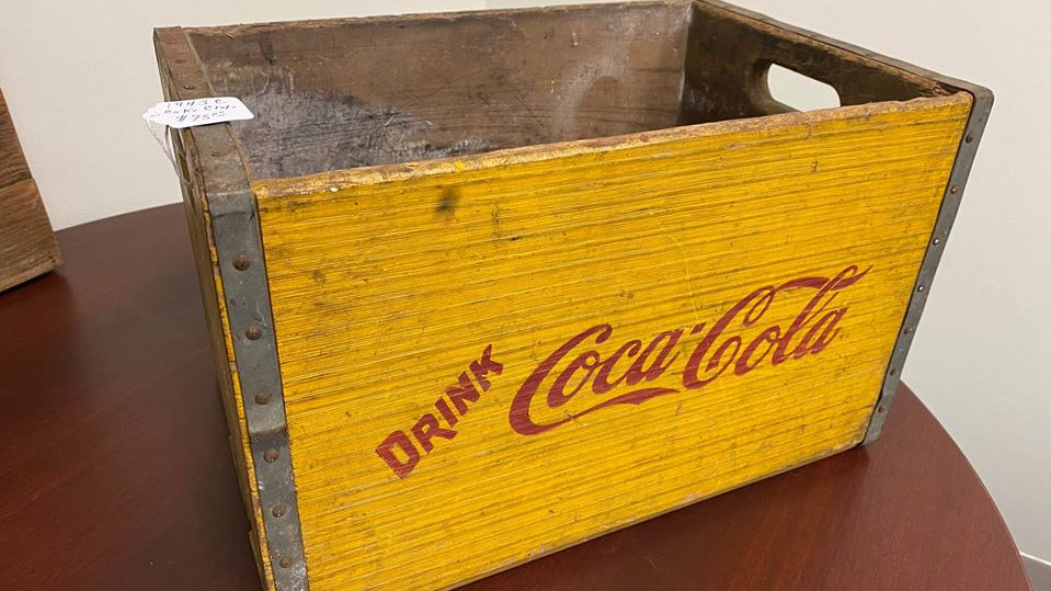 Drink Coca Cola Vintage Wooden Crate