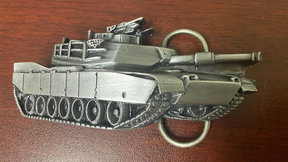 1980 Abrams Tank Belt Buckle
