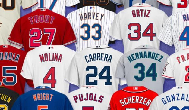 HUGE SELECTION OF MLB, NFL, NHL, AND NBA JERSEYS