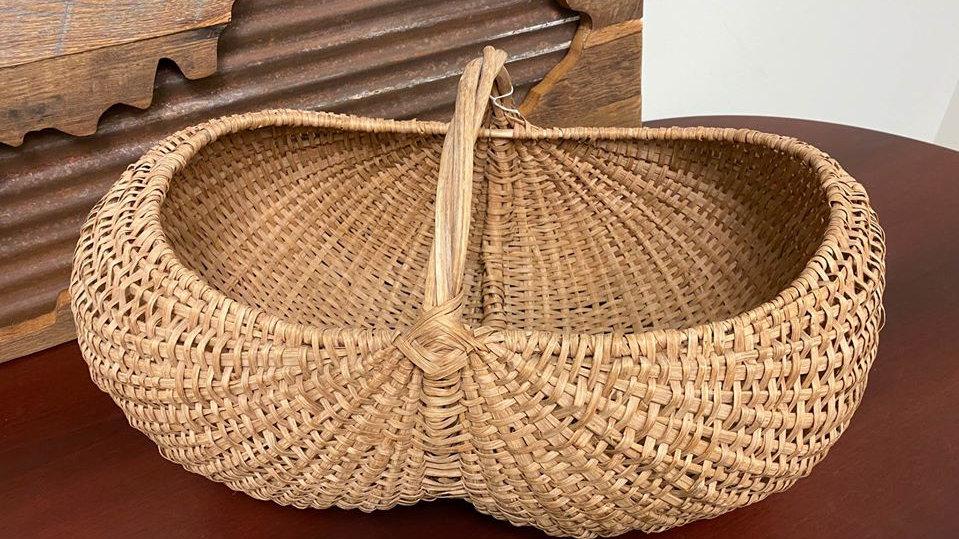Antique Egg Woven Basket