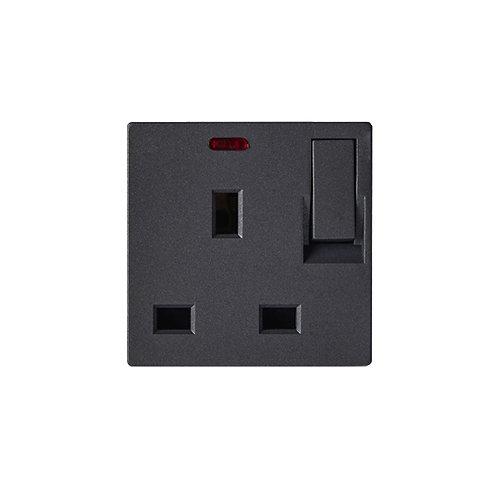 B3.3-13A Socket UK+Switch+Neon