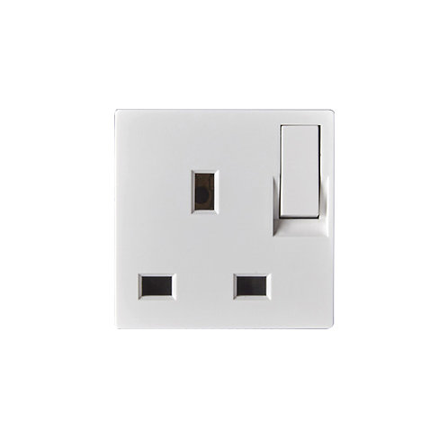 B3.2-13A Socket UK+Switch