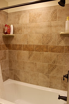 accented tile work