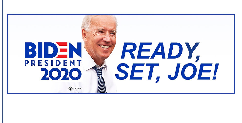 Ready, Set, Joe! Bumper Sticker