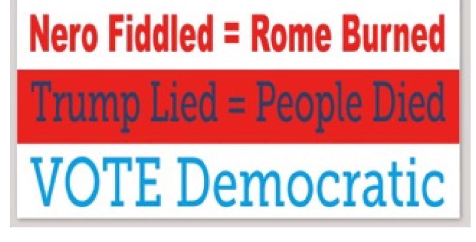 "Trump Lied=People Died 3""x 6"" Sticker"