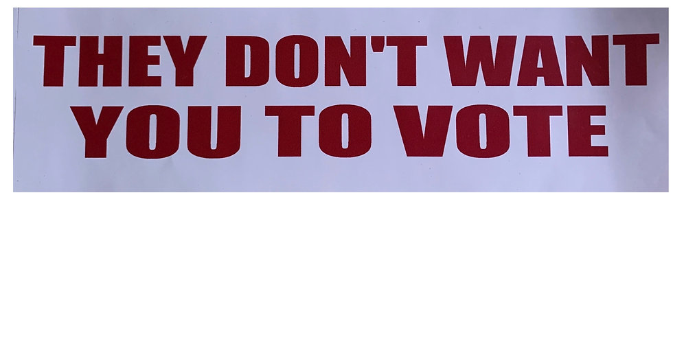 They Don't Want You To Vote Bumper Sticker