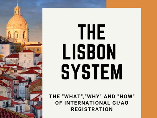 Why and How to use the new Lisbon System (Geneva Act) to protect your GI  abroad