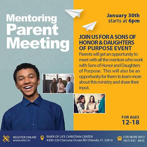 Youth Mentoring Parent Meeting