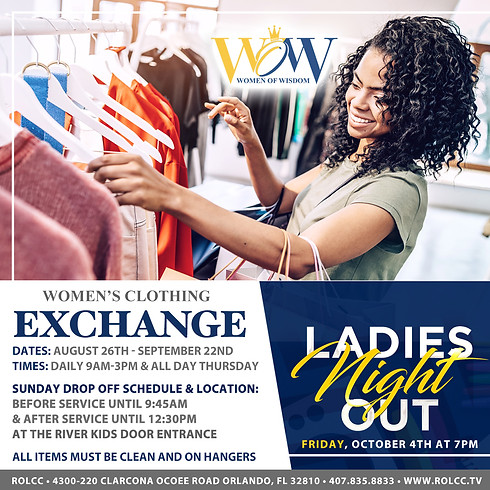 WOW - Ladies Night Out - Women's Clothing Exchange