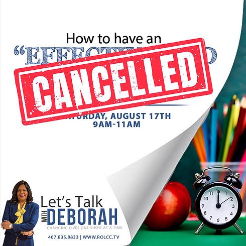 Let's Talk with Deborah-CANCELLED