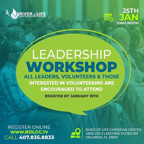 Leadership Workshop - Register By Jan. 19th
