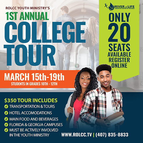Youth Ministry - College Tour - CLOSED