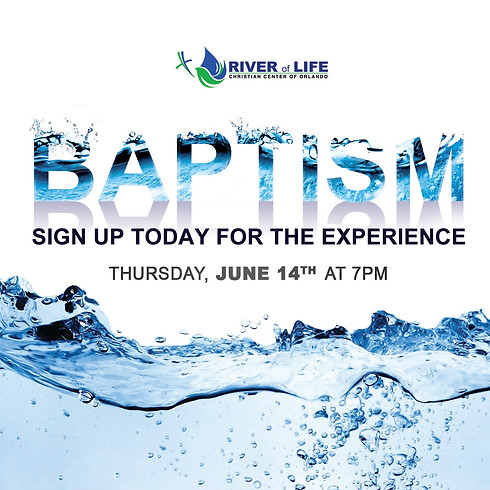 Baptism Service-Registration Is Closed