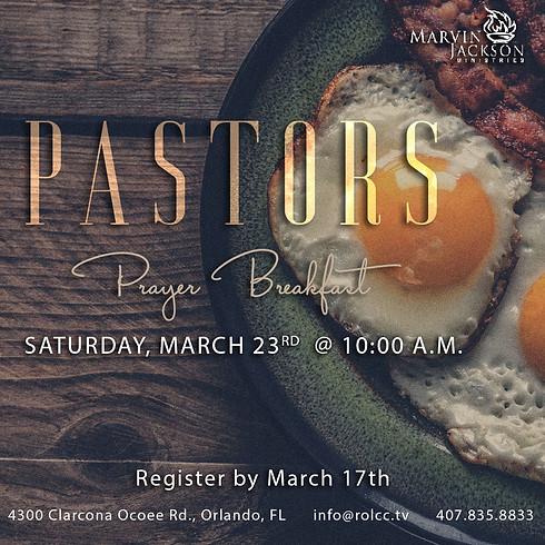 Pastors Prayer Breakfast-REGISTRATION CLOSED