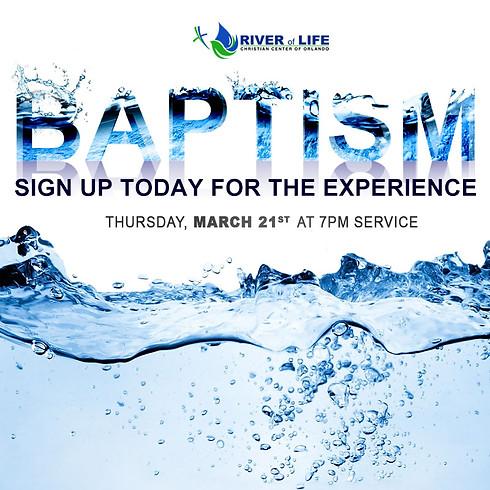 Water Baptism Service- REGISTRATION CLOSED