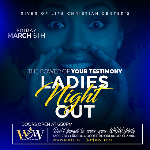 WOW Ladies Night Out - The Power of Your Testimony