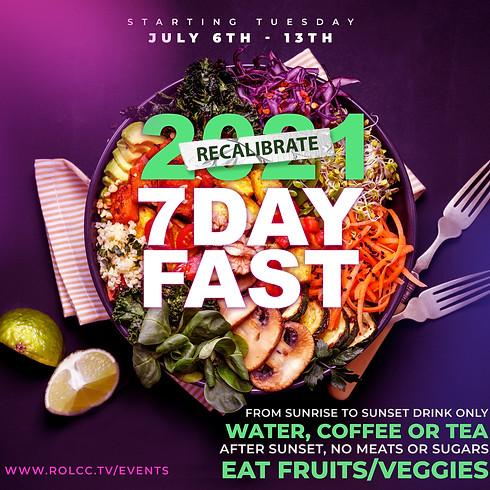 Recalibrate 2021 - 7 Day Fast