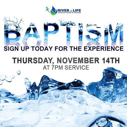 River of Life Christian Center - Baptism