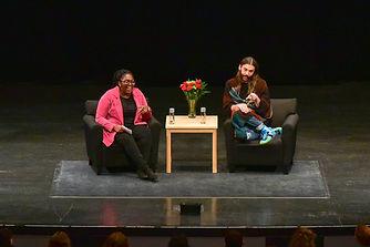 Samantha Sheppard in conversaton with Jonathan Van Ness