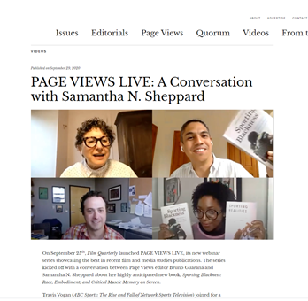 PAGE VIEWS LIVE: A Conversation with Samantha N. Sheppard
