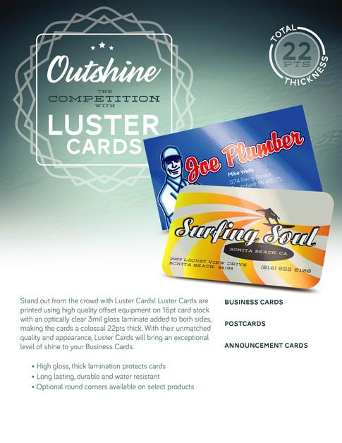 LAMINATED CARDS