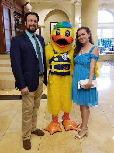"""Jared and his wife, Elsa attending the Kiwanis """"Aqua Ball"""" to raise funds to prevent childhood drowning."""