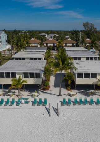 aerial view of units on beach