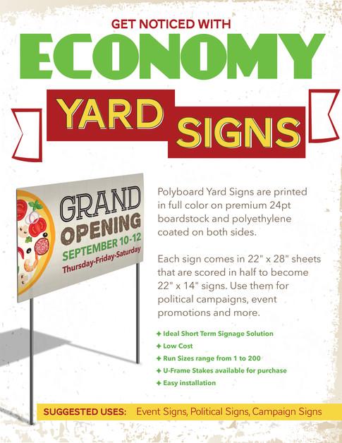 ECONOMY YARD SIGNS