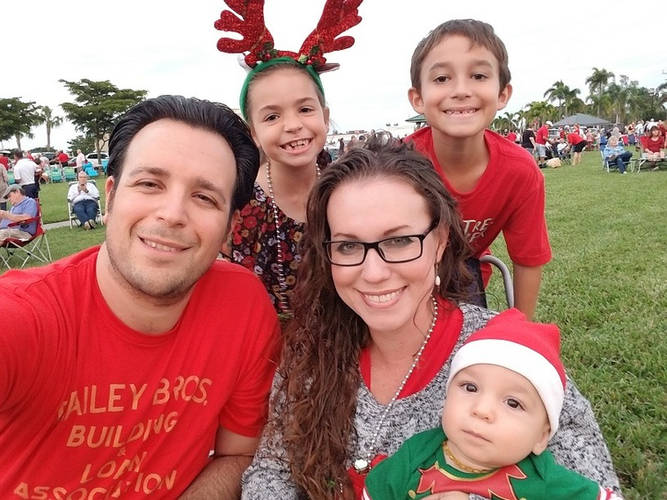 Jared and his family at the Christmas Island Style Christmas Tree lighting event at Veterans' Community Park.