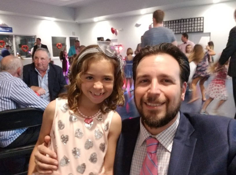 """Jared and his daughter, Tosca at the annual """"Daddy Daughter Dance"""" at the Marco Island YMCA."""
