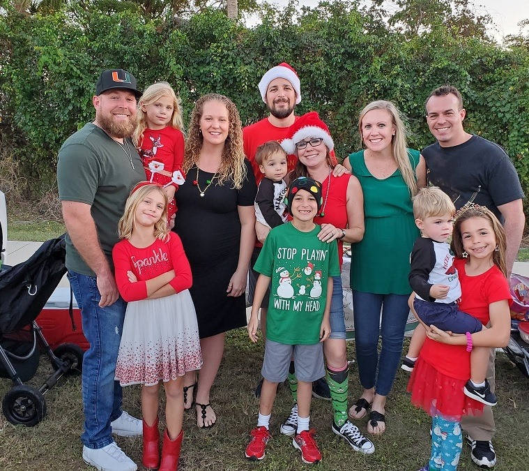 Jared and his family at the Christmas Island Style Marco Island Street Parade.