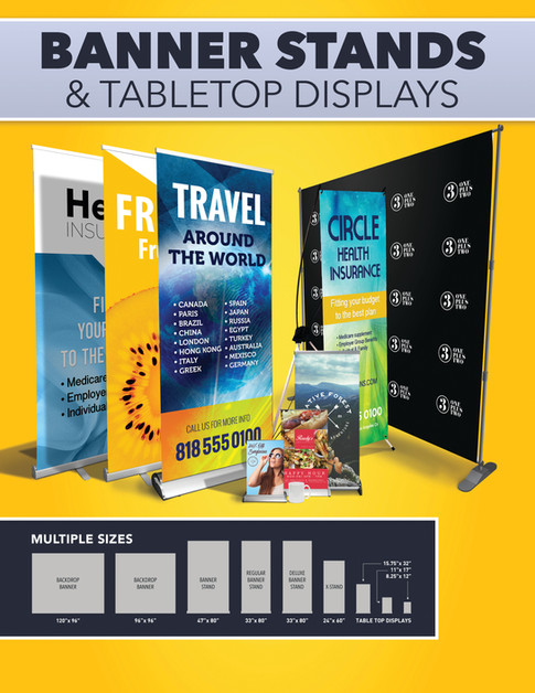 BANNER STANDS & TABLE TOP DISPLAYS