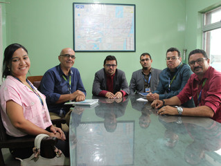 Reunião com representantes da COMPESA e Caixa Econômica Federal