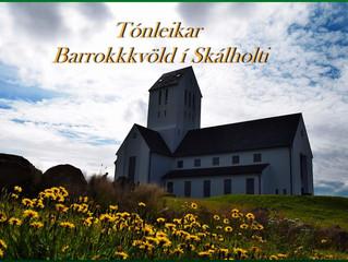 Barrokk tónleikar í Skálholts dómkirkju 15. júní kl 20.