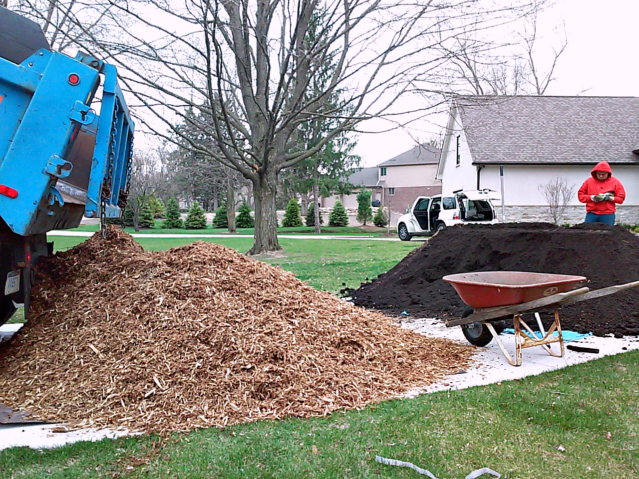 Mulch and soil delivery