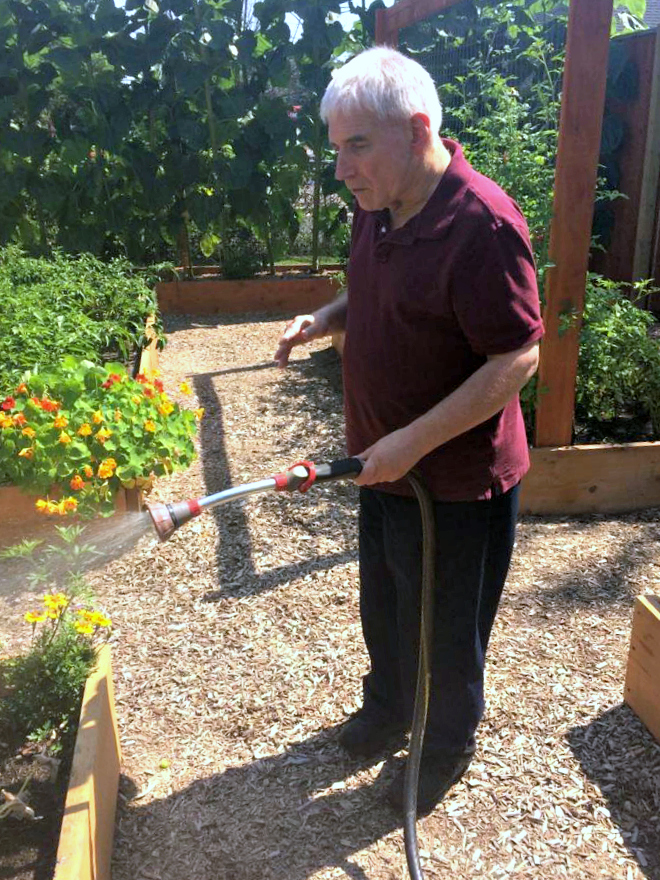 Watering the garden with JVS