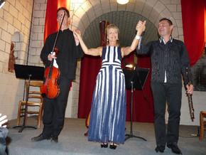 Concert Debussy - les artistes saluent le public