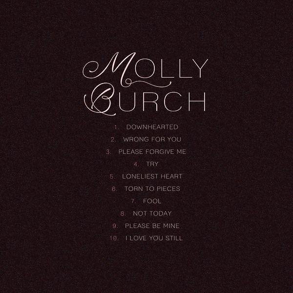 illustration music album cover artwork songwriter indie pop rock molly burch design typo dark black tracklist back