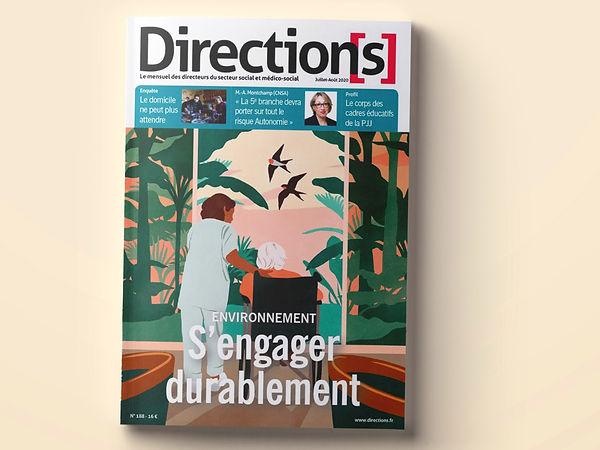 directions magazine couverture illustrée monde du social écologie