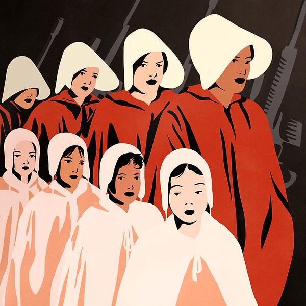 handmaids tale fanart margaret atwood series distopy science fiction illustration