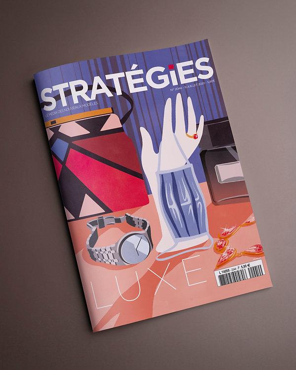 Stratégie magazine couverture illustrée numéro spécial luxe